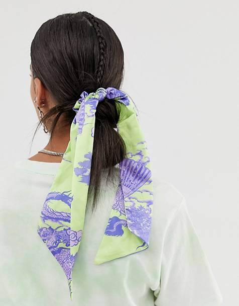 ASOS DESIGN hair scarf in dragon print