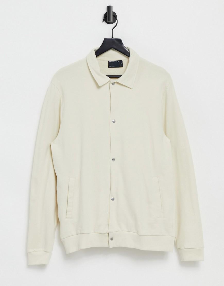 asos design -  – Trainingsjacke aus Jersey in Beige