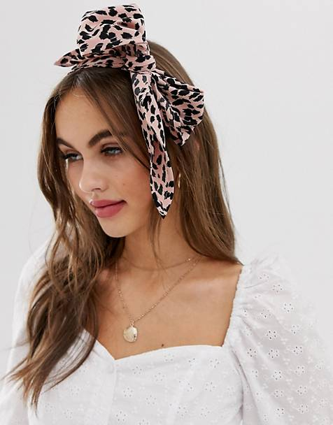 ASOS DESIGN headscarf in mini leopard print