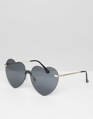 ASOS DESIGN Heart Sunglasses
