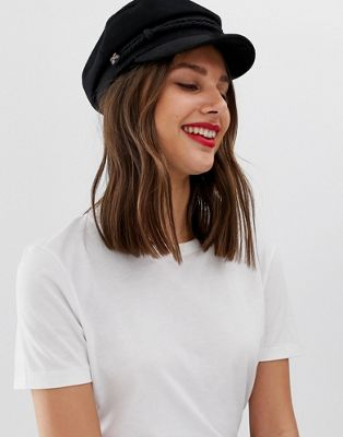 Image 1 of ASOS DESIGN high crown new wool baker boy hat