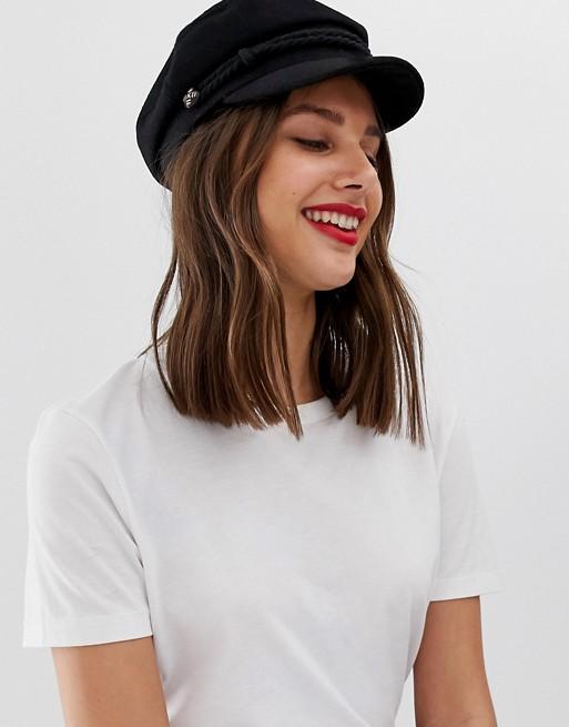 ASOS DESIGN high crown wool baker boy hat