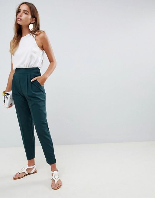 Image 1 of ASOS DESIGN high waist tapered pants