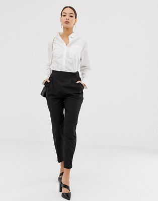 ASOS DESIGN high waist tapered trousers