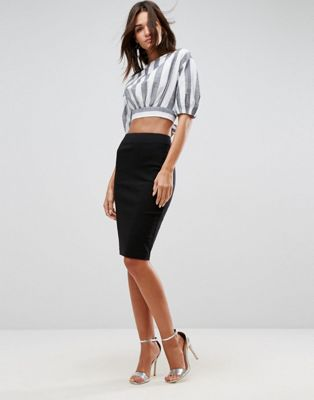 ASOS DESIGN high waisted pencil skirt