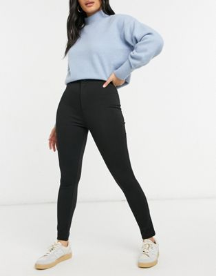 ASOS DESIGN high waisted stretch treggings