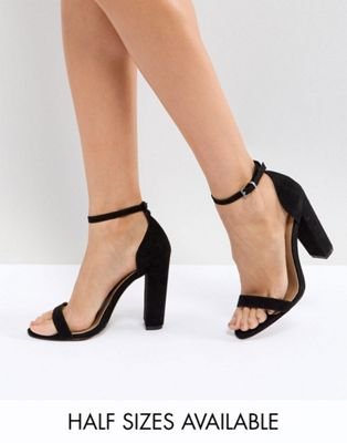 ASOS DESIGN Highball barely there heeled sandals