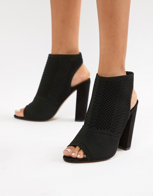Image 1 of ASOS DESIGN Hissy knitted heels