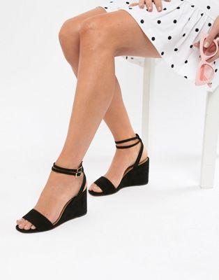 Bild 1 von ASOS DESIGN – Holt – Sandalen mit keilförmigem Blockabsatz