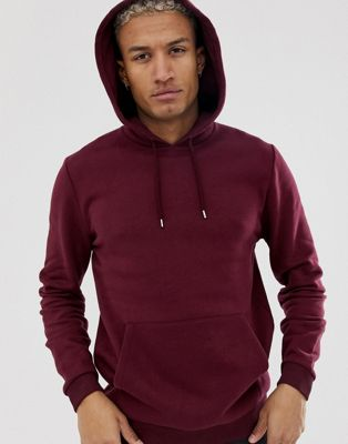 Image 1 of ASOS DESIGN hoodie in burgundy