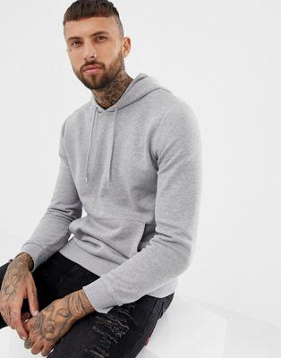 ASOS DESIGN hoodie in grey marl