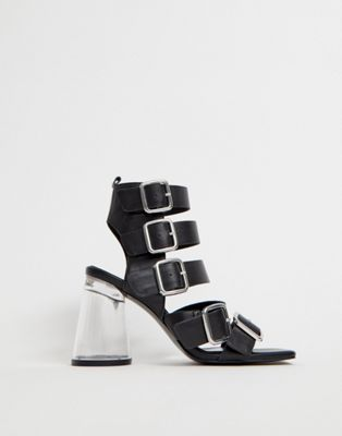 ASOS DESIGN Hunted strappy block heeled sandals