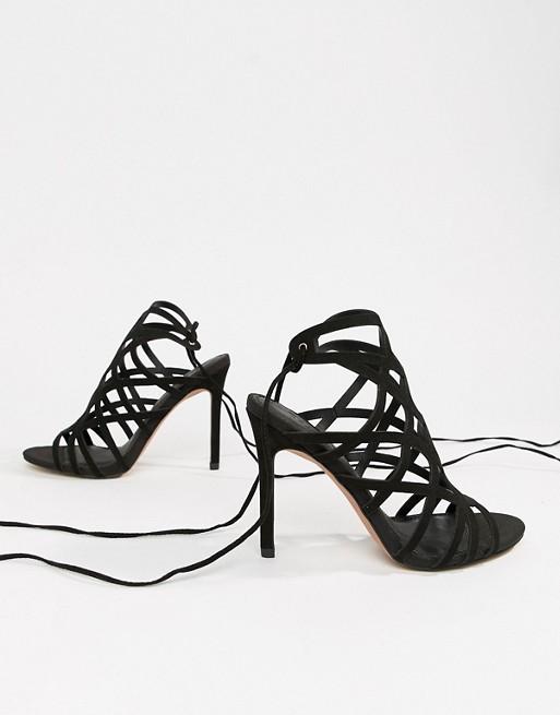 836e8b1ec3 ASOS DESIGN Husk Caged Heeled Sandals | ASOS