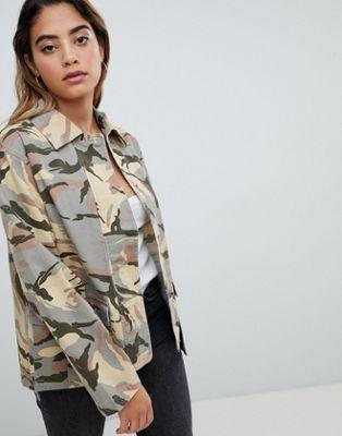 ASOS DESIGN Jacket In Camo Print