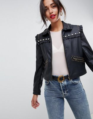 ASOS DESIGN jacket with pearl detail