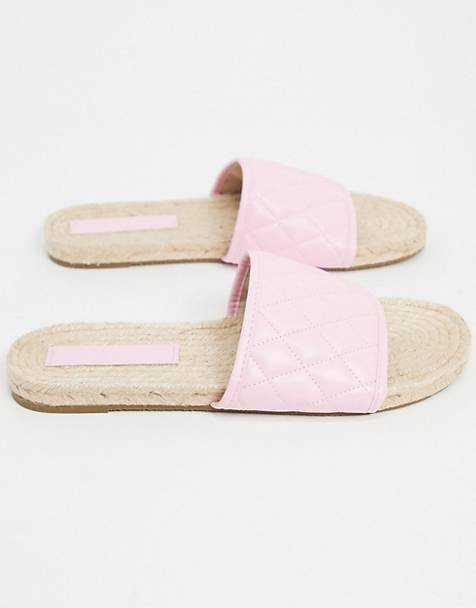 ASOS DESIGN Jagger espadrille mules in pink quilting