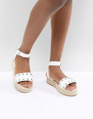 ASOS DESIGN Jake Studded Espadrille Sandals