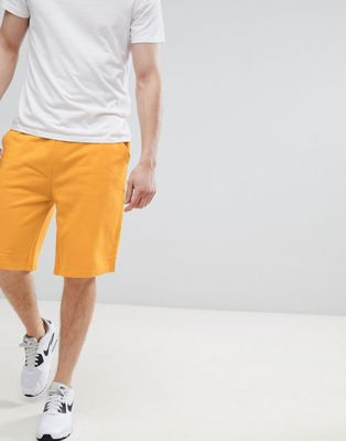 Image 1 of ASOS DESIGN Jersey Oversized Shorts In Yellow