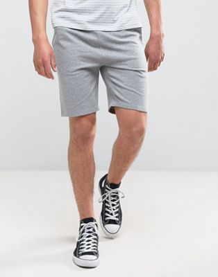 Image 1 of ASOS DESIGN jersey skinny shorts in gray marl