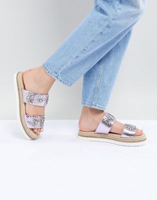 ASOS DESIGN Jewella Embellished Espadrille Sliders