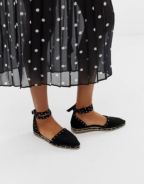 ASOS DESIGN Jiffy pointed studded espadrilles