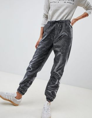 ASOS DESIGN jogger in metallic