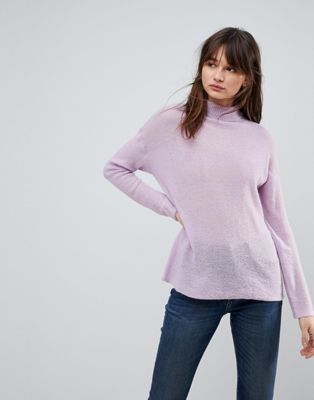 ASOS DESIGN jumper with high neck in mohair blend