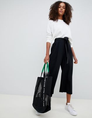 Image 1 sur ASOS DESIGN - Jupe-culotte mix and match à nouer à la taille