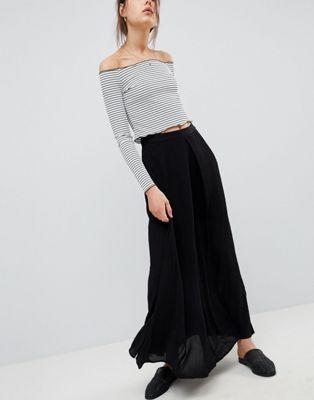 ASOS DESIGN - Jupe longue froissée à plis