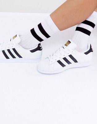 Afbeelding 1 van ASOS DESIGN - Kuitlange sokken met strepen