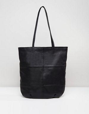Asos Design Leather Panelled Per Bag