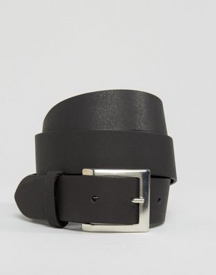 ASOS DESIGN leather silver buckle waist and hip belt