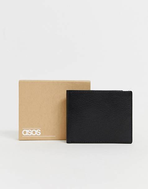 ASOS DESIGN leather wallet in black with internal coin ladies' wallet