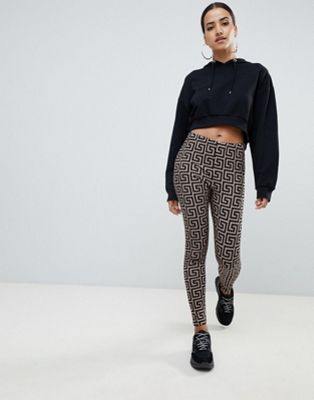 ASOS DESIGN leggings in geo print