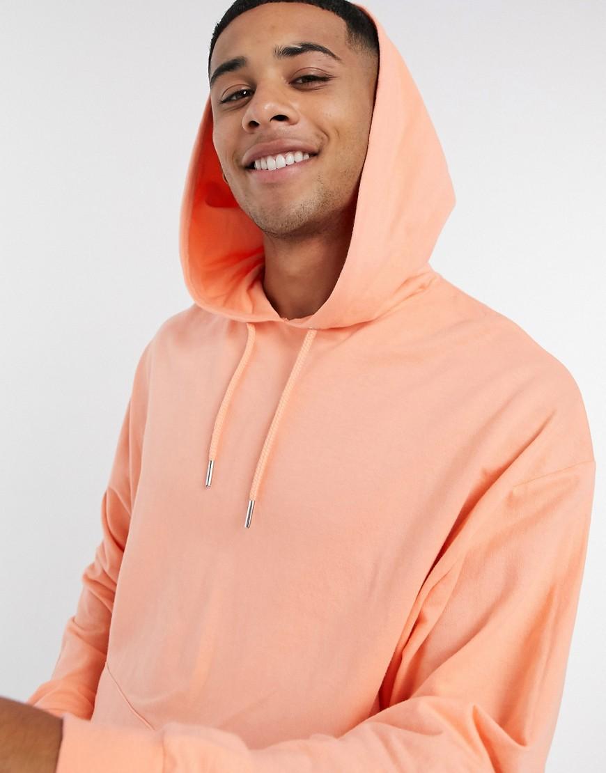 asosdesign Asos Design - Lichtgewicht oversized hoodie in oranje