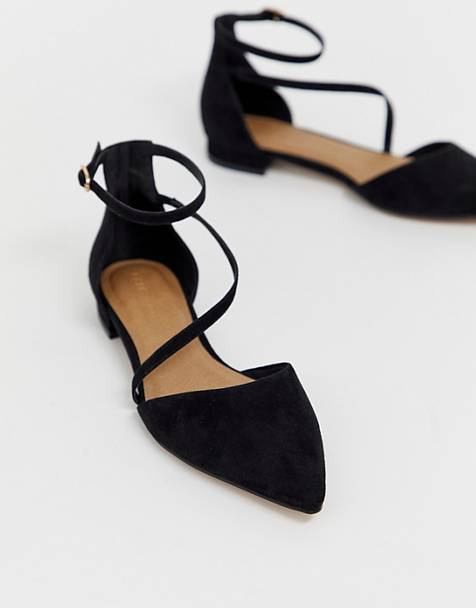 ASOS DESIGN Lifetime pointed ballet flats in black