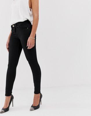 ASOS DESIGN - Lisbon - Jeans skinny alla caviglia a vita medio alta nero pulito