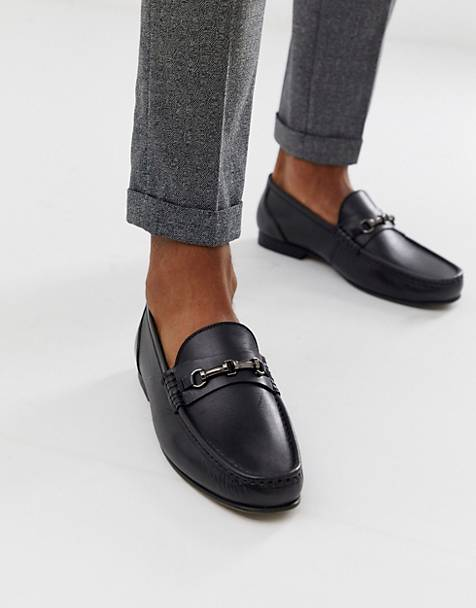 ASOS DESIGN loafers in black leather