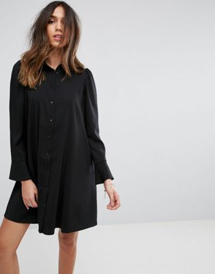ASOS DESIGN Long Sleeve Mini Shirt Dress