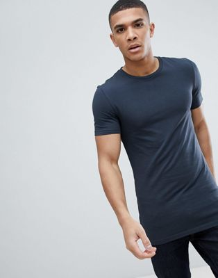 ASOS DESIGN Longline Muscle Fit T-Shirt With Crew Neck And Stretch