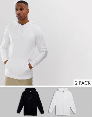 De Économie Lot Hoodies Noir Design Longs blanc 2 Asos wE8SFCqF