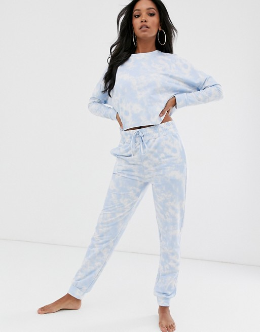 ASOS DESIGN lounge tye dye sweat & jogger set