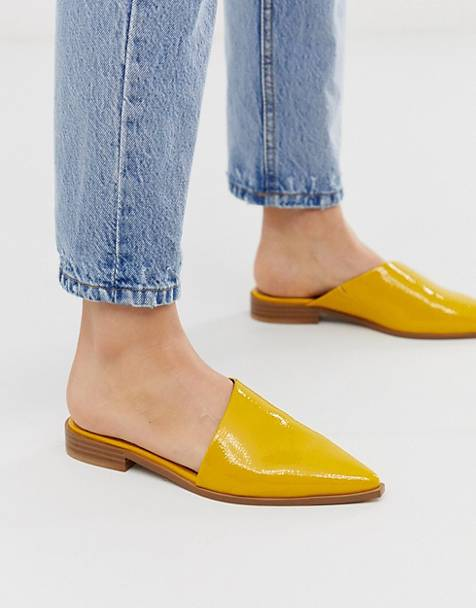 ASOS DESIGN Major pointed mule in yellow