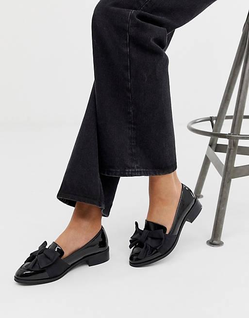 ASOS DESIGN – Matchsticks – Flache Schuhe in Schwarz
