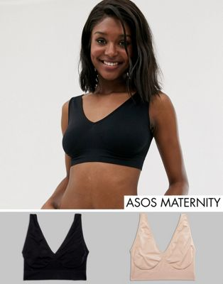 ASOS DESIGN Maternity 2 pack sleep bra