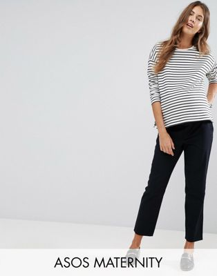 ASOS DESIGN Maternity chino trousers with under the bump waistband