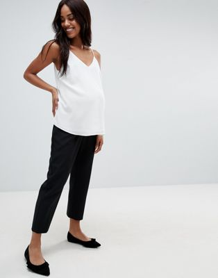 ASOS DESIGN Maternity Elasticated Clean Tapered Trouser