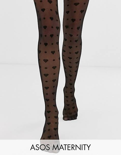 ASOS DESIGN Maternity heart and dot tights