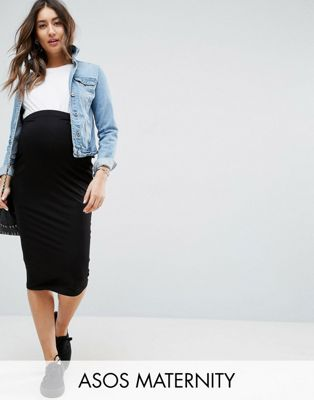 ASOS DESIGN Maternity jersey pencil skirt