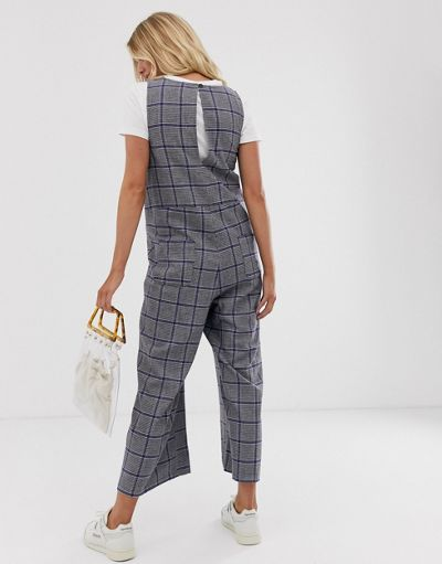 ASOS DESIGN Maternity minimal jumpsuits in check